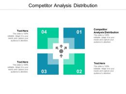 Competitor Analysis Distribution Ppt Powerpoint Presentation Layouts Aids Cpb
