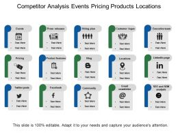 Competitor Analysis Events Pricing Products Locations