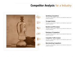 Competitor Analysis For A Industry