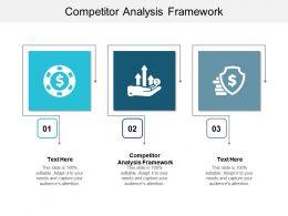 Competitor Analysis Framework Ppt Powerpoint Presentation Model Slide Cpb