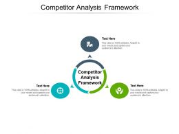 Competitor Analysis Framework Ppt Powerpoint Presentation Outline Picture Cpb
