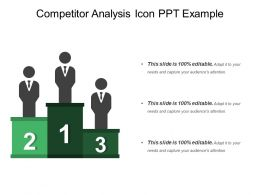 Competitor Analysis Icon Ppt Example