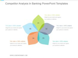 Competitor Analysis In Banking Powerpoint Templates