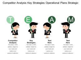 Competitor Analysis Key Strategies Operational Plans Strategic Pyramid