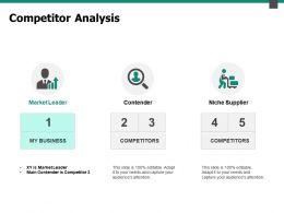 Competitor Analysis Market Leader Ppt Powerpoint Presentation Outline Slideshow