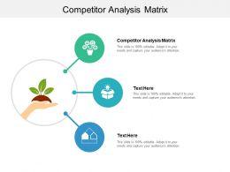 Competitor Analysis Matrix Ppt Powerpoint Presentation Portfolio Slide Download Cpb