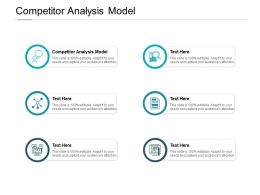 Competitor Analysis Model Ppt Powerpoint Presentation Outline Format Cpb