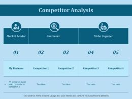 Competitor Analysis Ppt Slides Ideas