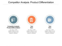 Competitor Analysis Product Differentiation Ppt Powerpoint Presentation Icon Samples Cpb