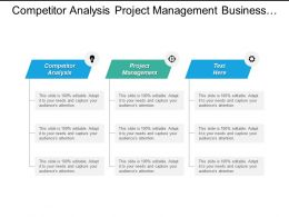 Competitor Analysis Project Management Business Plan Project Scope Cpb