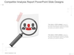 Competitor Analysis Report Powerpoint Slide Designs