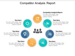 Competitor Analysis Report Ppt Powerpoint Presentation Gallery Themes Cpb