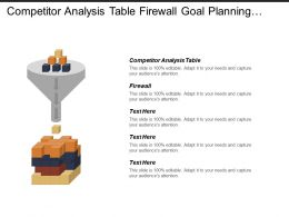 Competitor Analysis Table Firewall Goal Planning Job Satisfaction