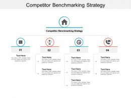 Competitor Benchmarking Strategy Ppt Powerpoint Presentation File Smartart Cpb