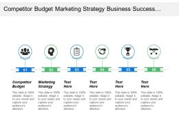 Competitor Budget Marketing Strategy Business Success Portfolio Management Cpb