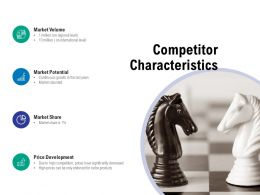 Competitor Characteristics Market Potential Ppt Powerpoint Presentation Styles