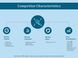 Competitor Characteristics Ppt Slides Infographic Template
