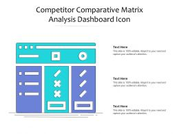 Competitor Comparative Matrix Analysis Dashboard Icon