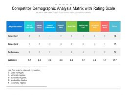 Competitor Demographic Analysis Matrix With Rating Scale