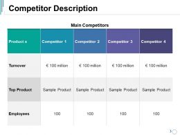 Competitor Description Ppt Summary Slideshow