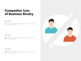 Competitor Icon Of Business Rivalry