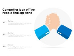 Competitor Icon Of Two People Shaking Hand