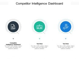 Competitor Intelligence Dashboard Ppt Powerpoint Presentation Icon Graphics Cpb