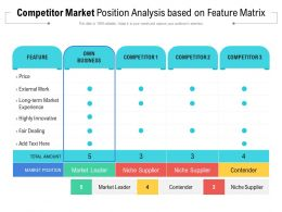 Competitor Market Position Analysis Based On Feature Matrix