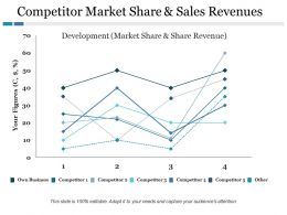 Competitor Market Share And Sales Revenues Ppt File Images