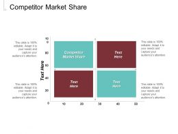 Competitor Market Share Ppt Powerpoint Presentation Styles Graphics Download Cpb