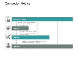 Competitor Metrics Ppt Powerpoint Presentation Infographic Template Visual Aids Cpb