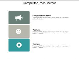 Competitor Price Metrics Ppt Powerpoint Presentation File Layouts Cpb