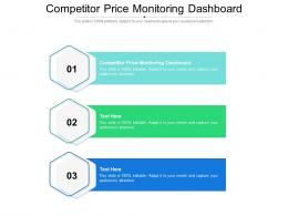 Competitor Price Monitoring Dashboard Ppt Powerpoint Presentation Pictures Styles Cpb