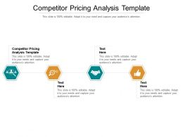 Competitor Pricing Analysis Template Ppt Powerpoint Presentation Portfolio Styles Cpb
