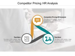 Competitor Pricing Hr Analysis Ppt Powerpoint Presentation Slides Download Cpb
