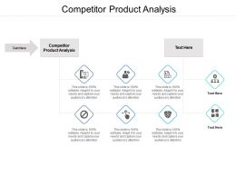 Competitor Product Analysis Ppt Powerpoint Presentation Gallery Format Ideas Cpb