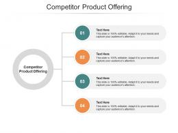 Competitor Product Offering Ppt Powerpoint Presentation Styles Microsoft Cpb