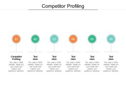 Competitor Profiling Ppt Powerpoint Presentation Infographic Template Icons Cpb
