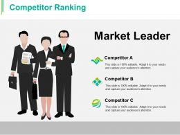 Competitor Ranking Ppt Styles Clipart