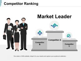 Competitor Ranking Ppt Summary Structure