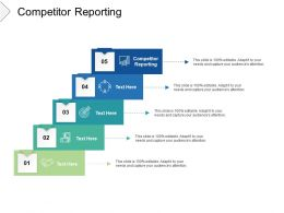 Competitor Reporting Ppt Powerpoint Presentation Outline Design Ideas Cpb