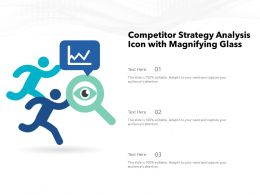 Competitor Strategy Analysis Icon With Magnifying Glass