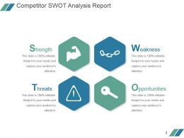 Competitor Swot Analysis Report Powerpoint Slide