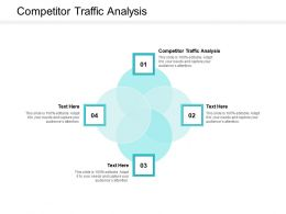 Competitor Traffic Analysis Ppt Powerpoint Presentation Infographics Icons Cpb