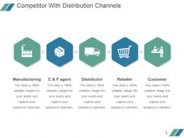 Competitor With Distribution Channels Powerpoint Slide Background
