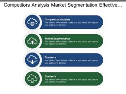 Competitors Analysis Market Segmentation Effective Problem Solving Sales Management
