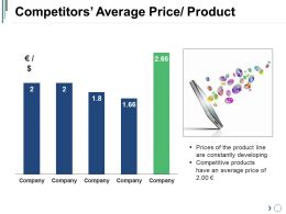 Competitors Average Price Product Powerpoint Presentation Templates