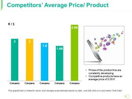 Competitors Average Price Product Ppt Guide