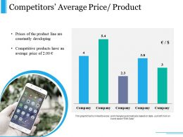 Competitors Average Price Product Ppt Slide Template