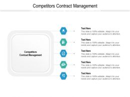 Competitors Contract Management Ppt Powerpoint Presentation Summary Themes Cpb